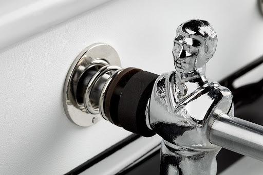 Joueur aluminium baby-foot Bonzini white